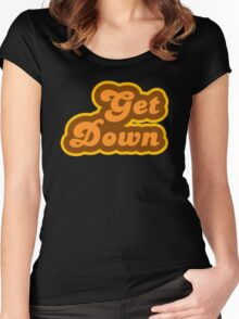 Get Down - Retro 70s - Logo Women's Fitted Scoop T-Shirt
