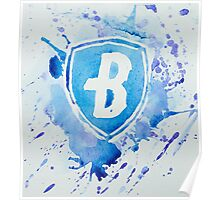 Blue Coats DCI Watercolor Logo Poster