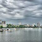 River Rhine Skyline by Lilian Marshall