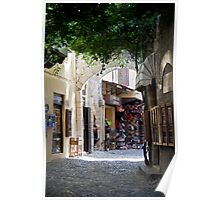 Old Town Rhodes Shops Poster