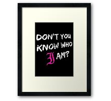 Every Time I Die - Don't You Know Who I Am? (White) Framed Print
