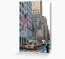 Typical New York street scene  Greeting Card