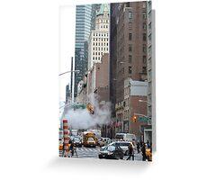 New York street Scene Greeting Card