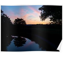 Sunset over the Great Western Canal Poster