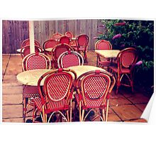 Fourteen Red Chairs Poster