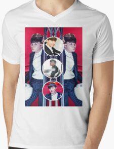 Hoseok Circles Mens V-Neck T-Shirt