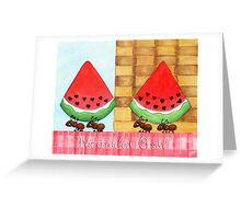 Watermelon Crawl Greeting Card