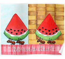 Watermelon Crawl Poster