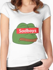 rare pepe sadboy Women's Fitted Scoop T-Shirt