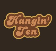 Hangin' Ten - Retro 70s - Logo by graphix