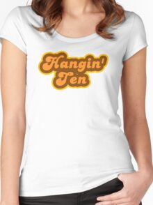 Hangin' Ten - Retro 70s - Logo Women's Fitted Scoop T-Shirt