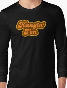 Hangin' Ten - Retro 70s - Logo Long Sleeve T-Shirt