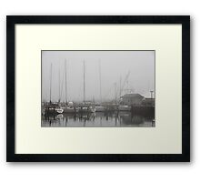Misty Harbor Framed Print