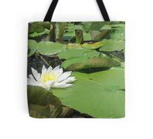 Green Lillies Tote Bag
