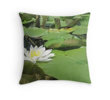 Green Lillies Throw Pillow