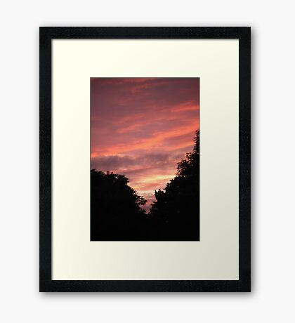 Pink Skyline Framed Print