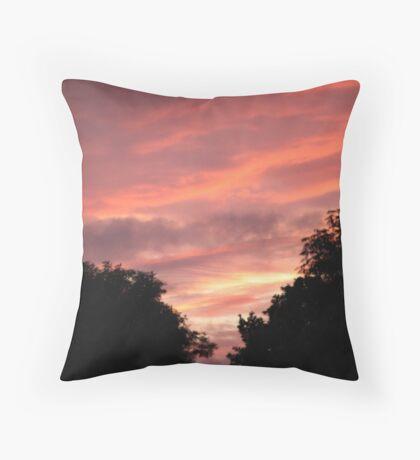 Pink Skyline Throw Pillow