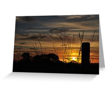 Sunset Over The Vale Greeting Card