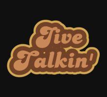 Jive Talkin' - Retro 70s - Logo Kids Tee