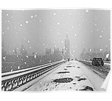 London Snow Storm Poster