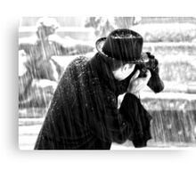 London Photographer in the Snow Canvas Print