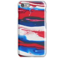 Paint - Blue, White, Red iPhone Case/Skin
