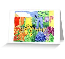 Bloomin' Washing Greeting Card