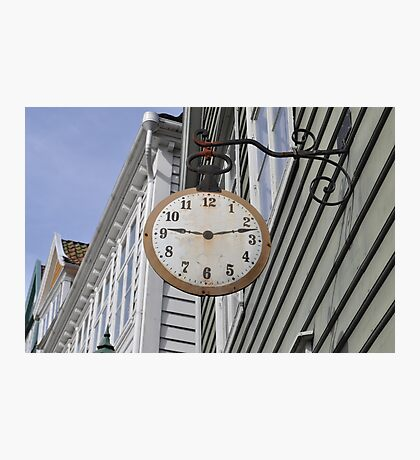 Old clock. Photographic Print