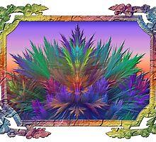 Summer Botanical in Summer Rainbow Frame by wolfepaw