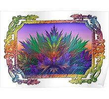 Summer Botanical in Summer Rainbow Frame Poster