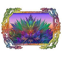 Summer Botanical in Summer Rainbow Frame Photographic Print
