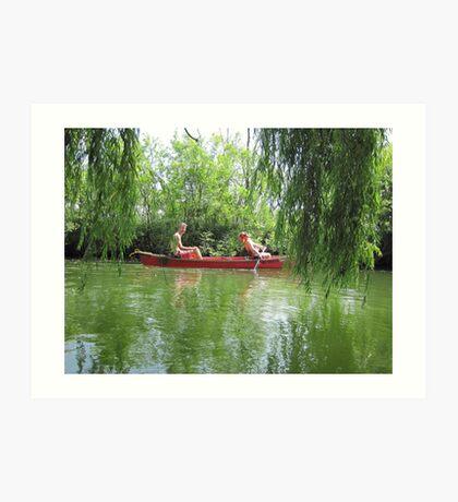 Canoeing on the Oconomowoc River Art Print