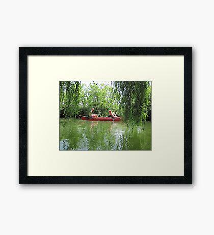 Canoeing on the Oconomowoc River Framed Print