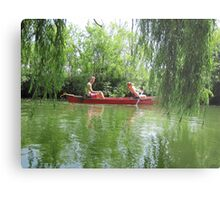 Canoeing on the Oconomowoc River Metal Print