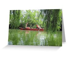 Canoeing on the Oconomowoc River Greeting Card