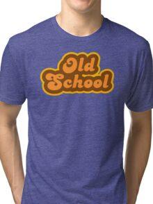 Old School - Retro 70s - Logo Tri-blend T-Shirt