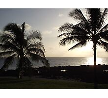 sunset in hawaii Photographic Print