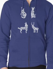 Moony, Wormtail, Padfoot & Prongs Zipped Hoodie