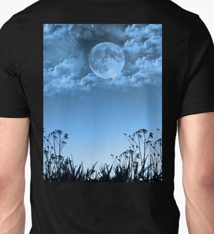 Cloudy Blue Moon Unisex T-Shirt