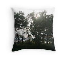 b/w trees Throw Pillow