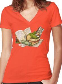 September Jackalope Women's Fitted V-Neck T-Shirt