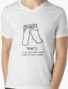 Pants Mens V-Neck T-Shirt