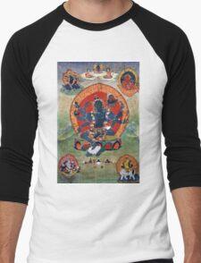 Green Tara Tibetan Buddhist Religious Art Men's Baseball ¾ T-Shirt