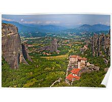 Greece. Meteora. Monasteries. Poster
