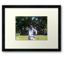 Cricketter Framed Print
