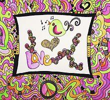 Love Doodle Bird  by triciaanne