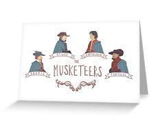 The Musketeers Greeting Card