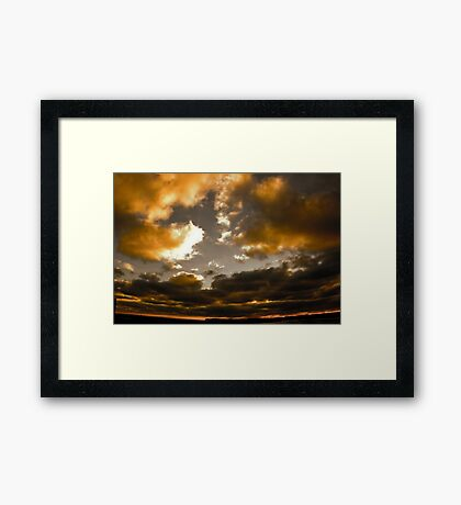 Wide Open Sky Framed Print