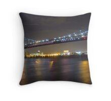 Ben Franklin Bridge, Philadelphia, PA Throw Pillow