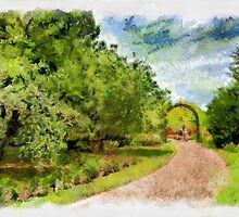 Along the garden path - watercolour by PhotosByHealy